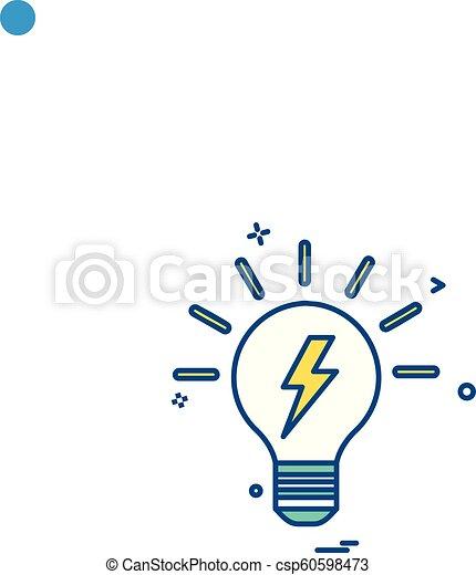 bulb light icon vector - csp60598473