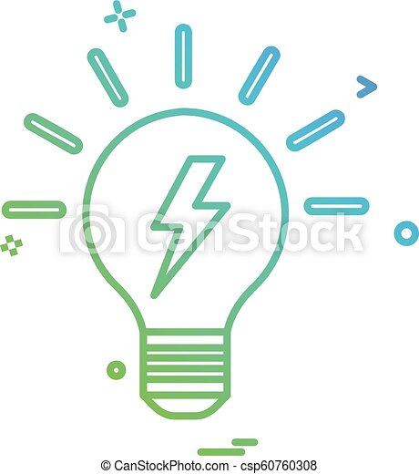 bulb light icon vector - csp60760308