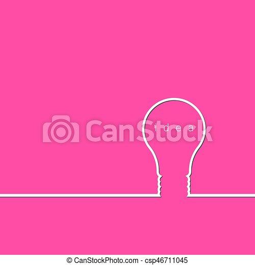 Bulb light idea concept - csp46711045