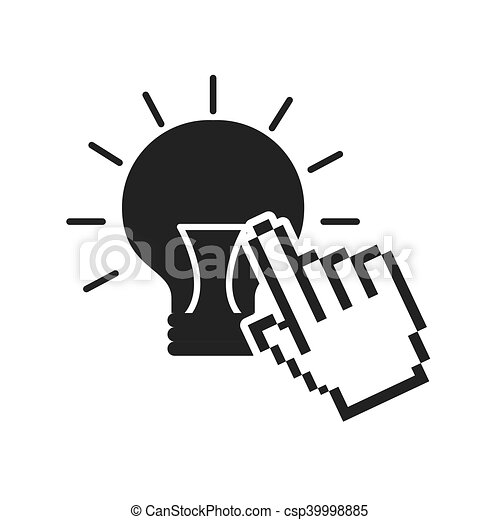 bulb light idea icon - csp39998885