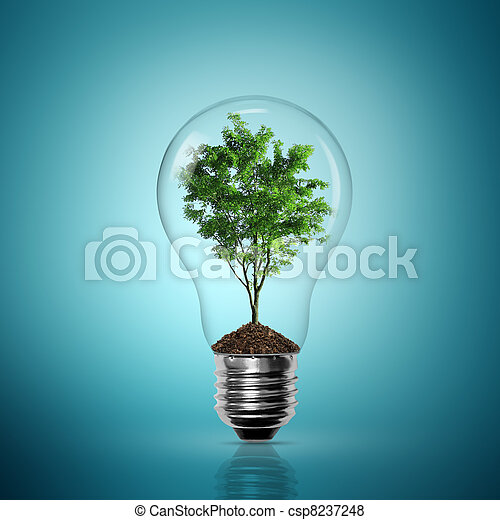 Bulb light with tree inside - csp8237248