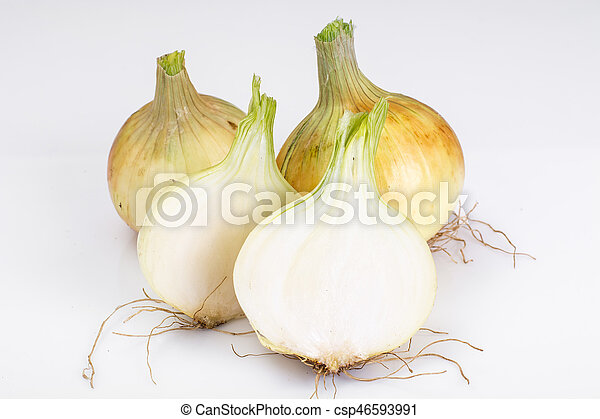 Bulbs of young onions - csp46593991