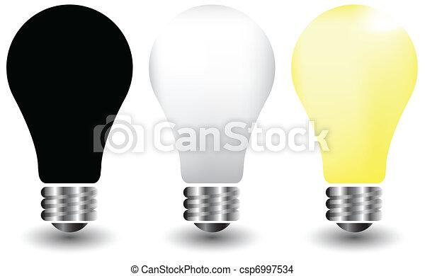 Bulbs on White, vector illustration - csp6997534
