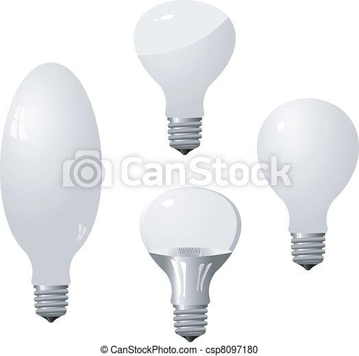Un conjunto de bombillas. Vector - csp8097180