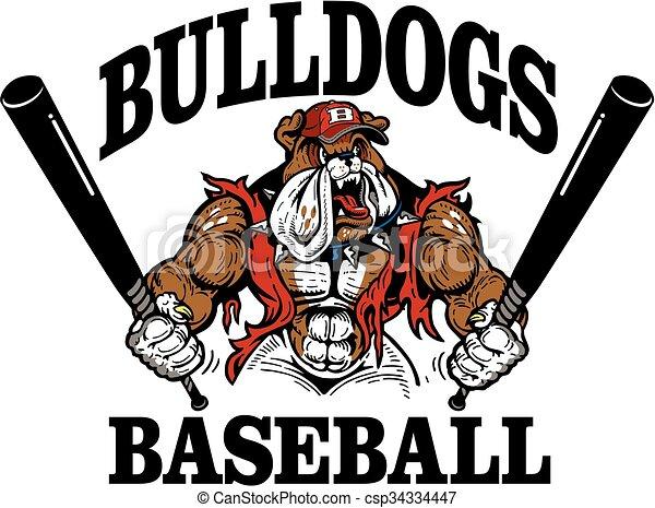 buldog, baseball - csp34334447