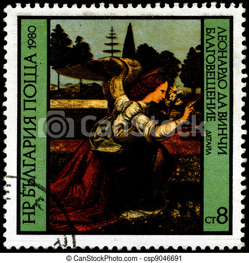 BULGARIA - CIRCA 1980 Leonardo da Vinci - csp9046691