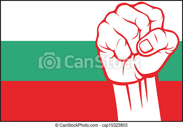 bulgaria fist (flag of bulgaria) - csp15323803