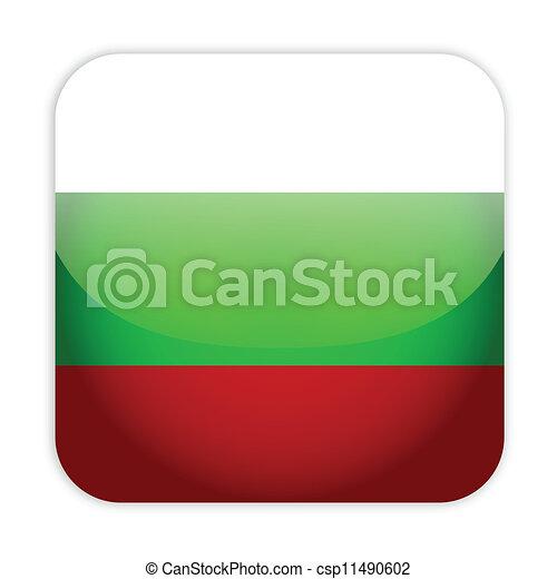 Bulgaria flag button - csp11490602