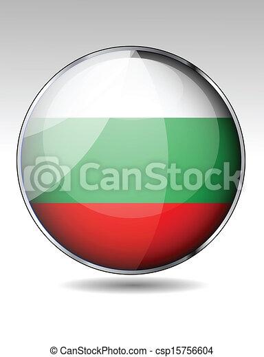 Bulgaria flag button - csp15756604