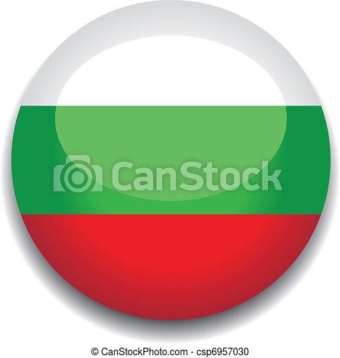 bulgaria flag button - csp6957030
