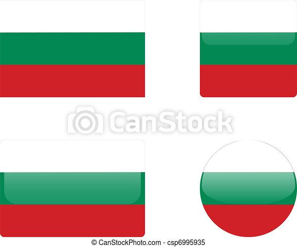 Bulgaria flag & buttons - csp6995935