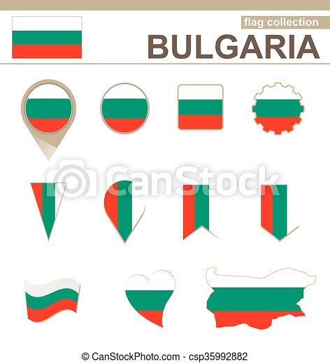 Bulgaria Flag Collection - csp35992882