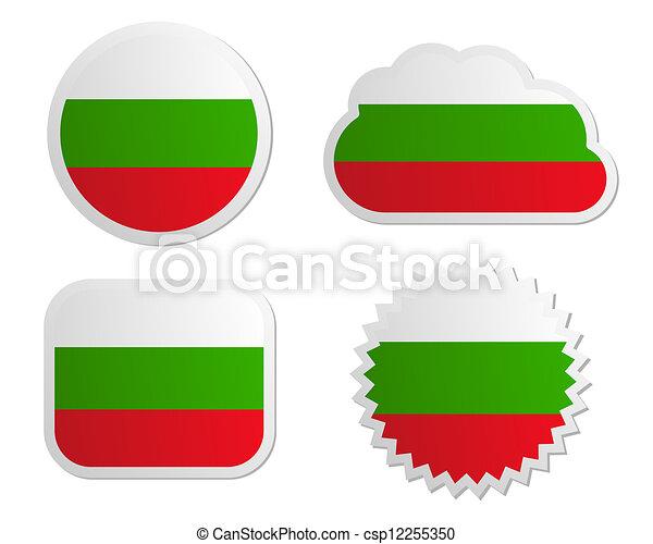 Bulgaria flag labels - csp12255350