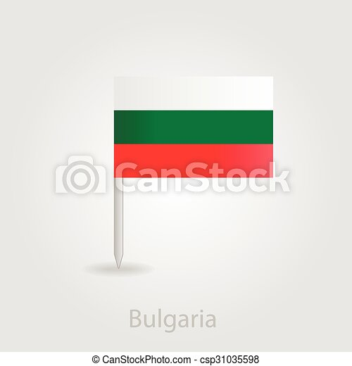 Bulgaria flag pin map icon, vector illustration - csp31035598