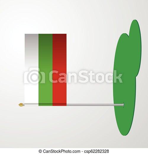 Bulgaria Flag Pole - csp62282328