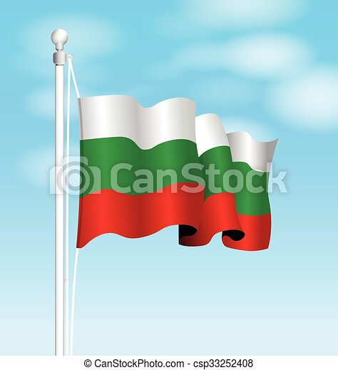 bulgaria flag - csp33252408