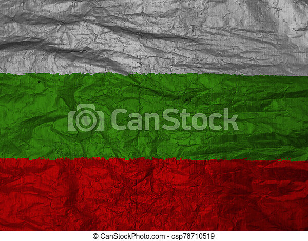 bulgaria flag with texture on background - csp78710519