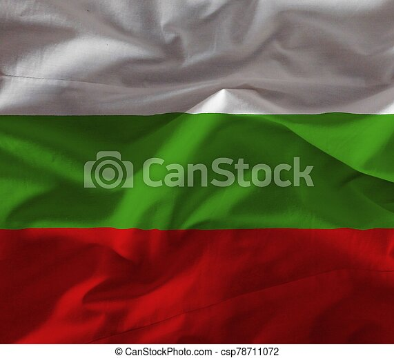 bulgaria flag with texture on background - csp78711072