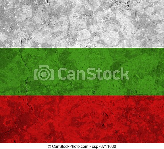 bulgaria flag with texture on background - csp78711080