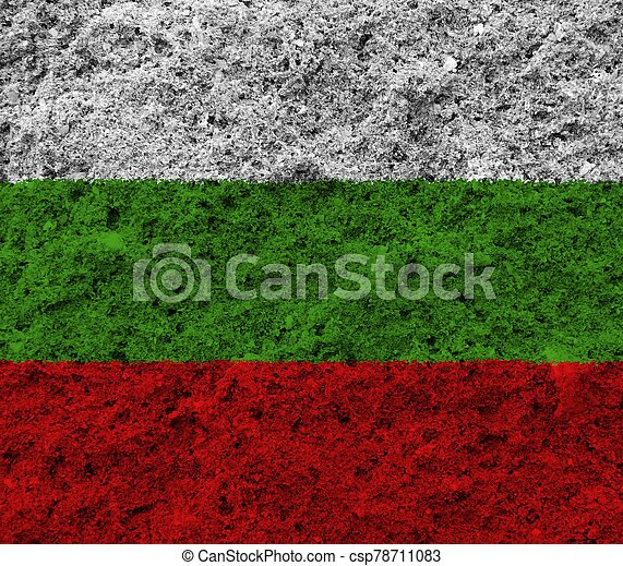 bulgaria flag with texture on background - csp78711083