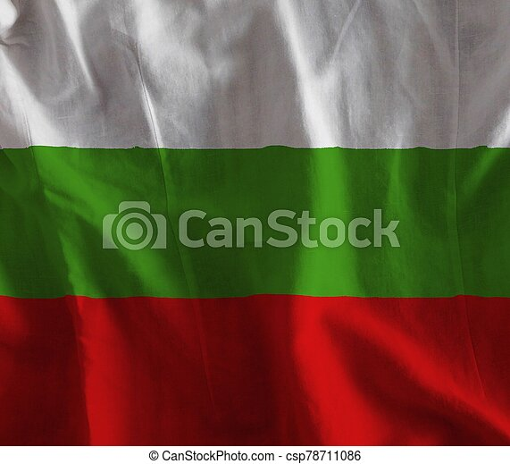 bulgaria flag with texture on background - csp78711086