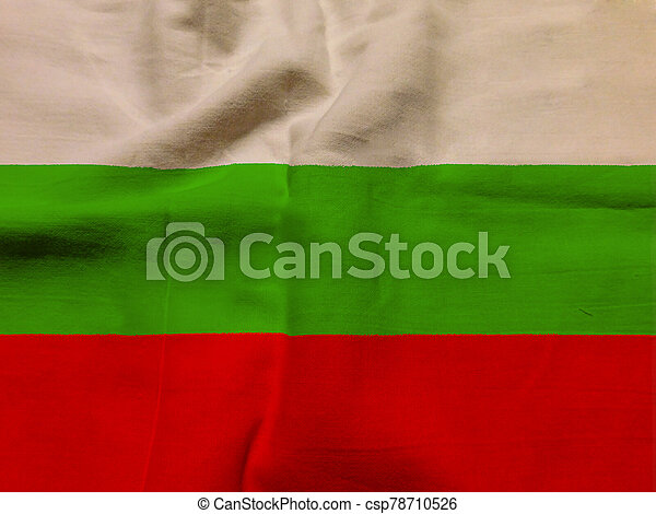 bulgaria flag with texture on background - csp78710526