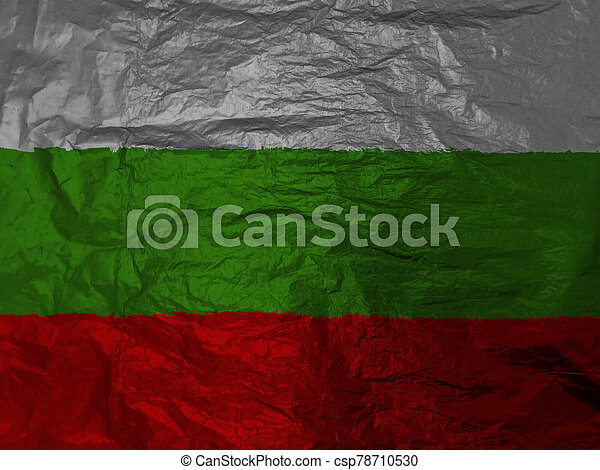 bulgaria flag with texture on background - csp78710530