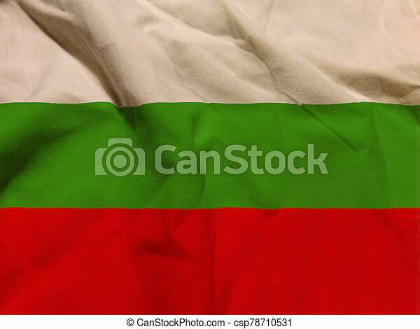 bulgaria flag with texture on background - csp78710531