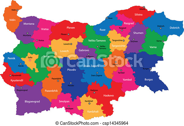 Bulgaria map - csp14345964