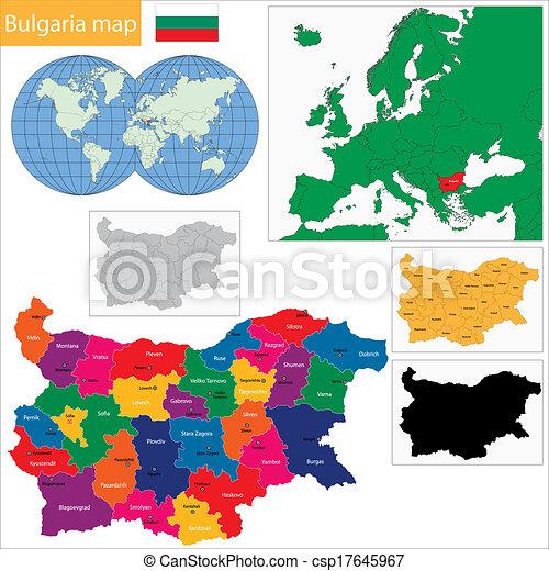 Bulgaria map - csp17645967