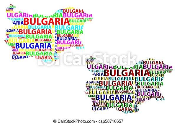 Bulgaria map - csp58710657