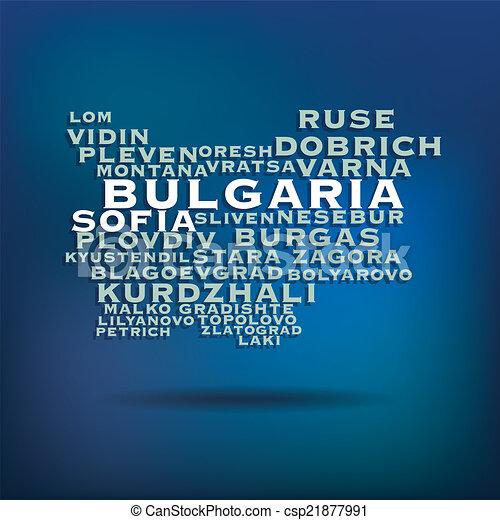 Bulgaria map concept - csp21877991