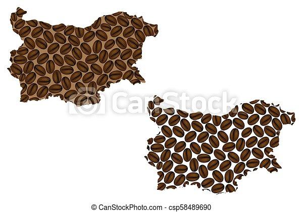 Bulgaria map - csp58489690