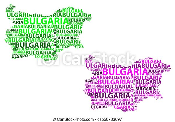 Bulgaria map - csp58733697