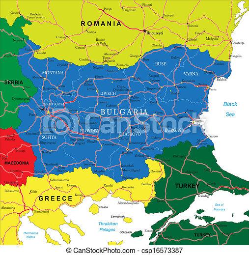 Bulgaria map - csp16573387