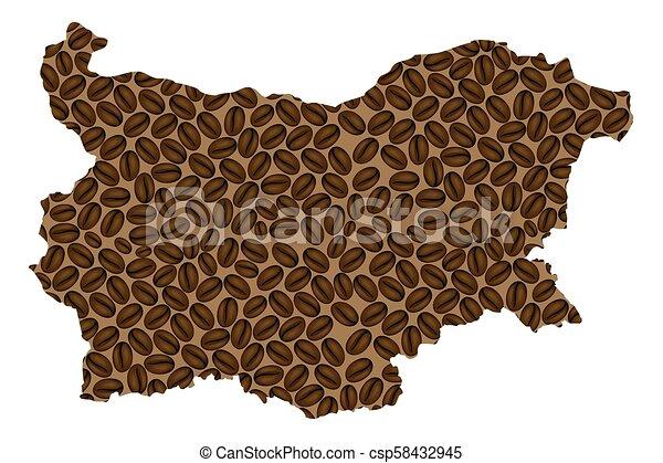 Bulgaria map - csp58432945