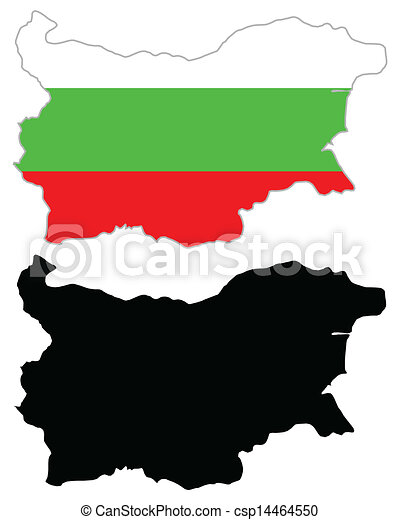 Bulgaria map flag - csp14464550