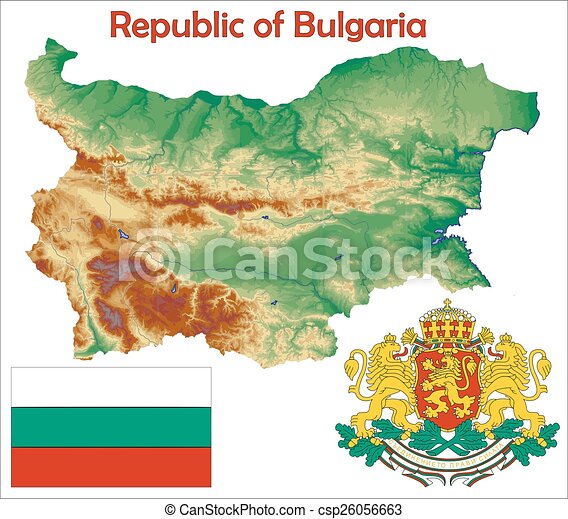 Bulgaria map flag coat - csp26056663