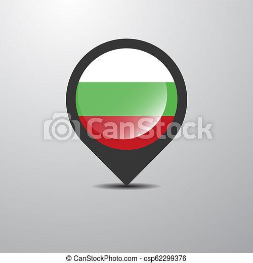 Bulgaria Map Pin - csp62299376