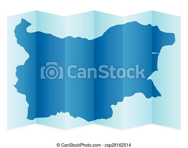 Bulgaria map - csp28162514
