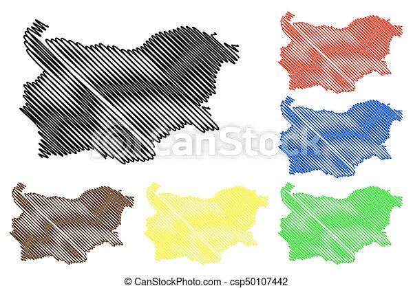 Bulgaria map vector - csp50107442
