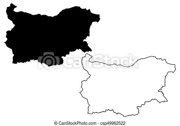 Bulgaria map vector - csp49962522
