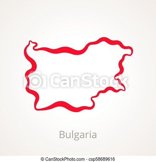 Bulgaria - Outline Map - csp58689616