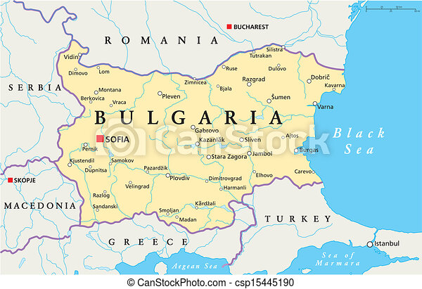 Bulgaria Political Map - csp15445190
