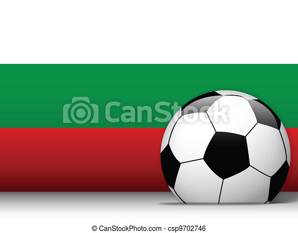 Bulgaria Soccer Ball with Flag Background - csp9702746