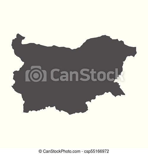 Bulgaria vector map. Black icon on white background. - csp55166972