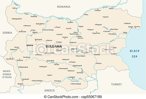 bulgaria vector map - csp55067189