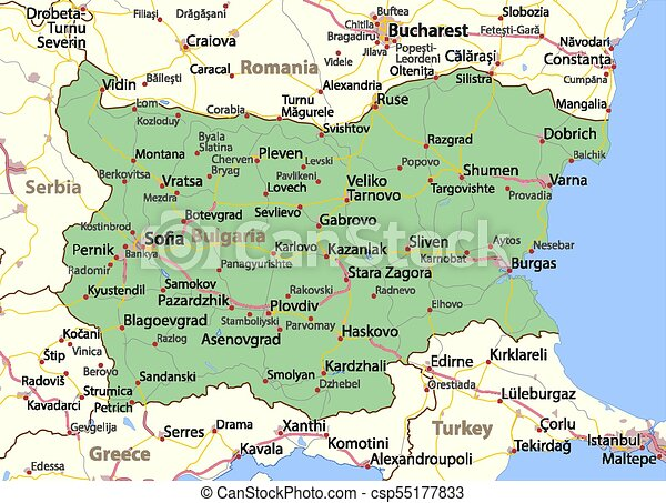 Bulgaria World Countries Vectormap A Map Of Bulgaria Shows Country