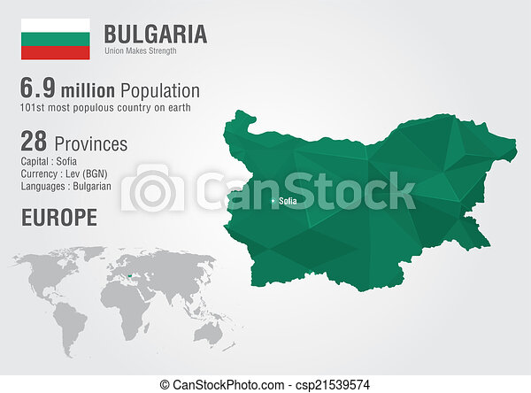 Bulgaria world map with a pixel diamond texture world geography gumiabroncs Choice Image