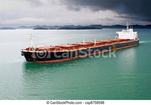 Bulk transport carrier under stormy sky - csp8758598